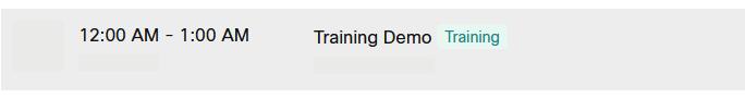 Image: Training Name