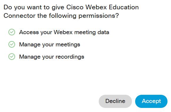 Screenshot: Accept permissions buttton