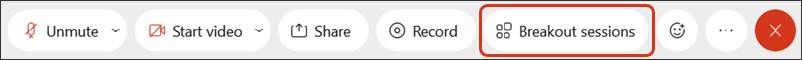 Screenshot: Breakout sessions button on Control Bar