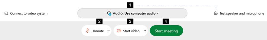 Screenshot: Start/Join Meetings