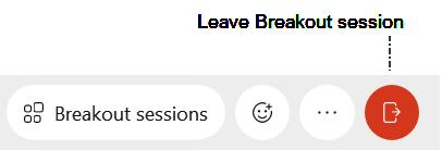 Screenshot: Leave breakout session shortcut on Control Bar