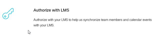 Screenshot: Authorize LMS