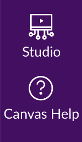 Screenshot: Studio & Help Button Canvas Dashboard