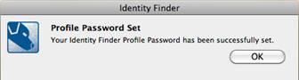IDF password set window image