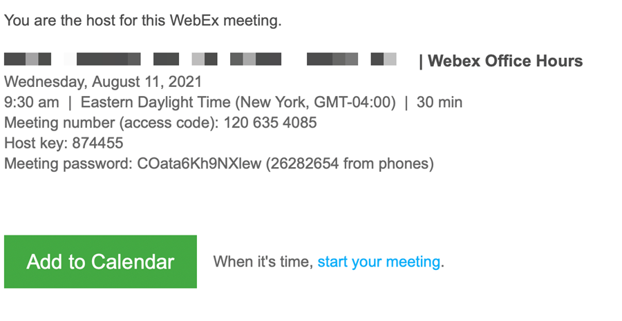 Screenshot: Confirmation E-mail Message Example